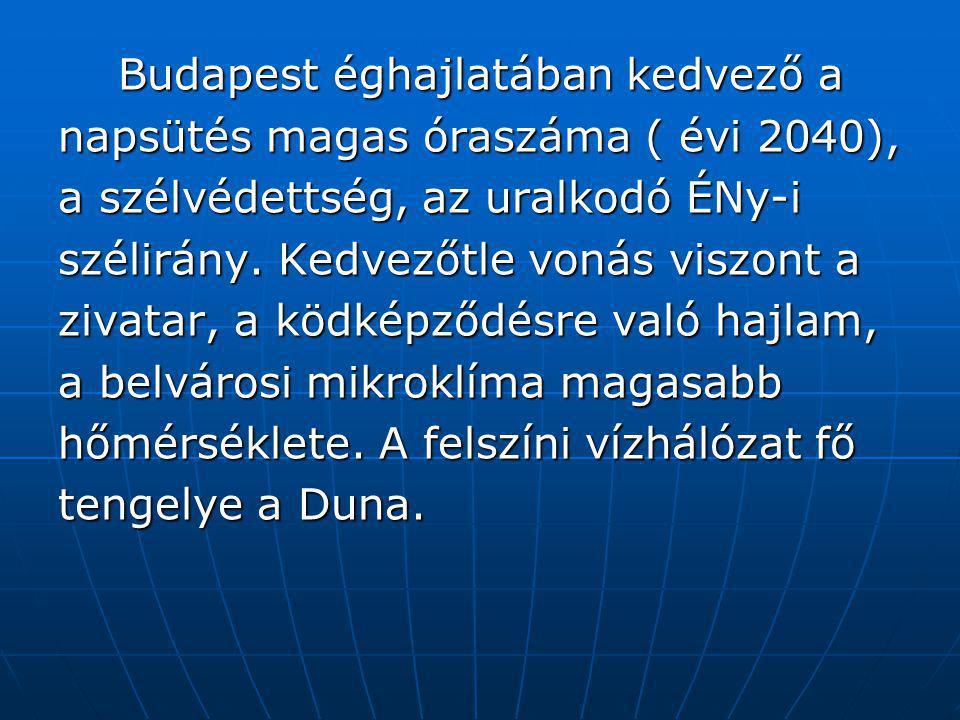 Budapest éghajlatában kedvező a