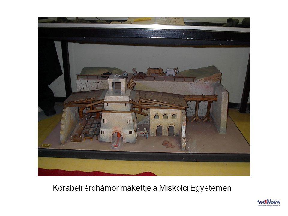 Korabeli érchámor makettje a Miskolci Egyetemen