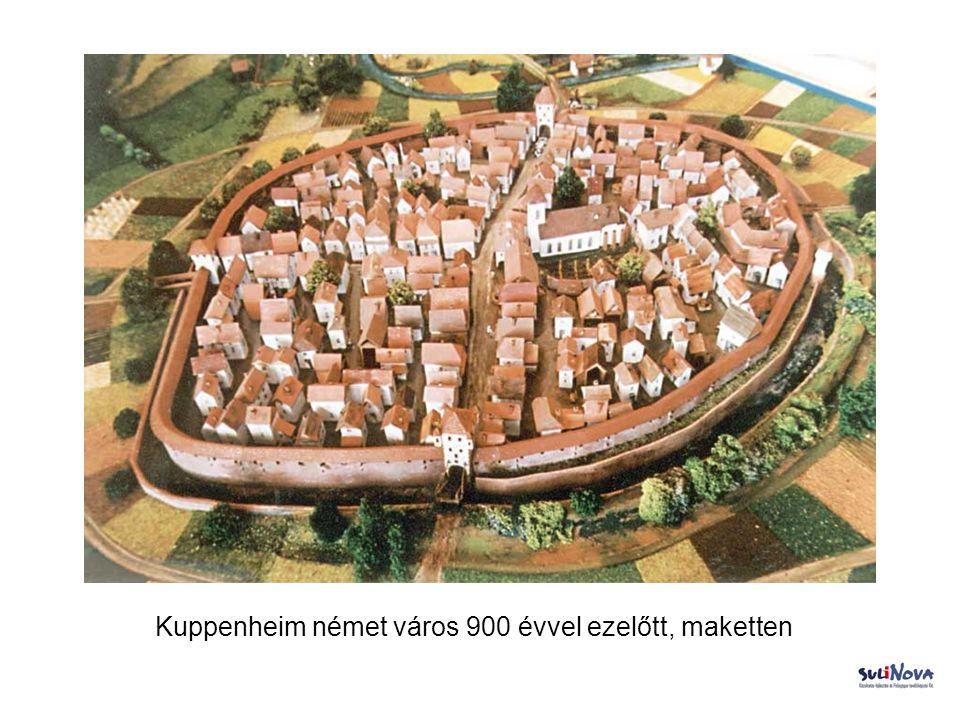 Kuppenheim német város 900 évvel ezelőtt, maketten