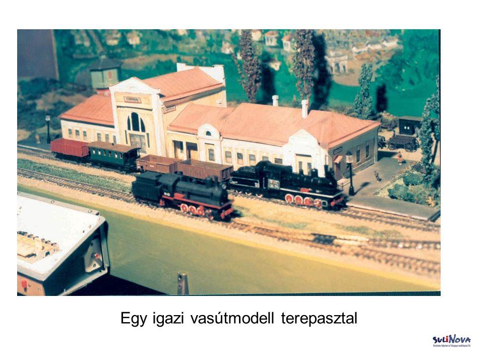 Egy igazi vasútmodell terepasztal