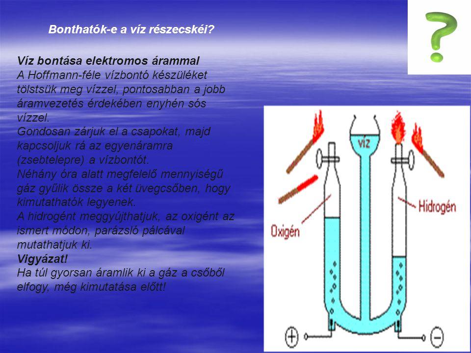 Bonthatók-e a víz részecskéi