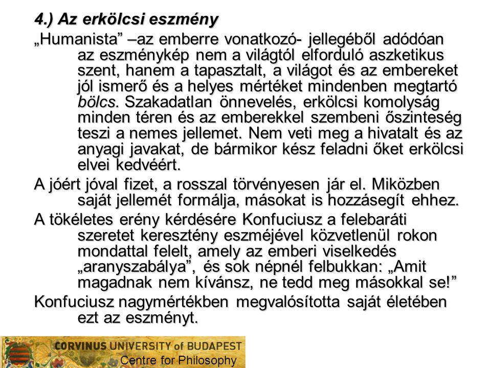 4.) Az erkölcsi eszmény