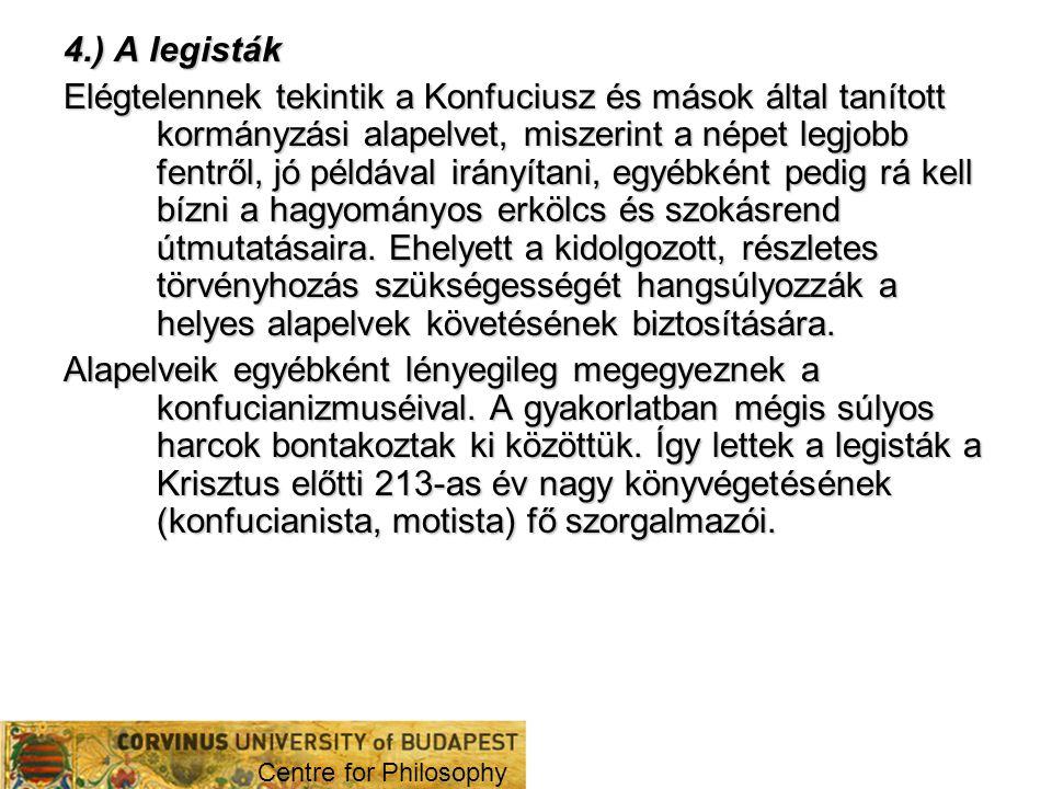 4.) A legisták