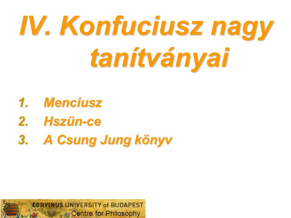 IV. Konfuciusz nagy tanítványai