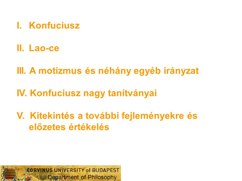 III. A motizmus és néhány egyéb irányzat