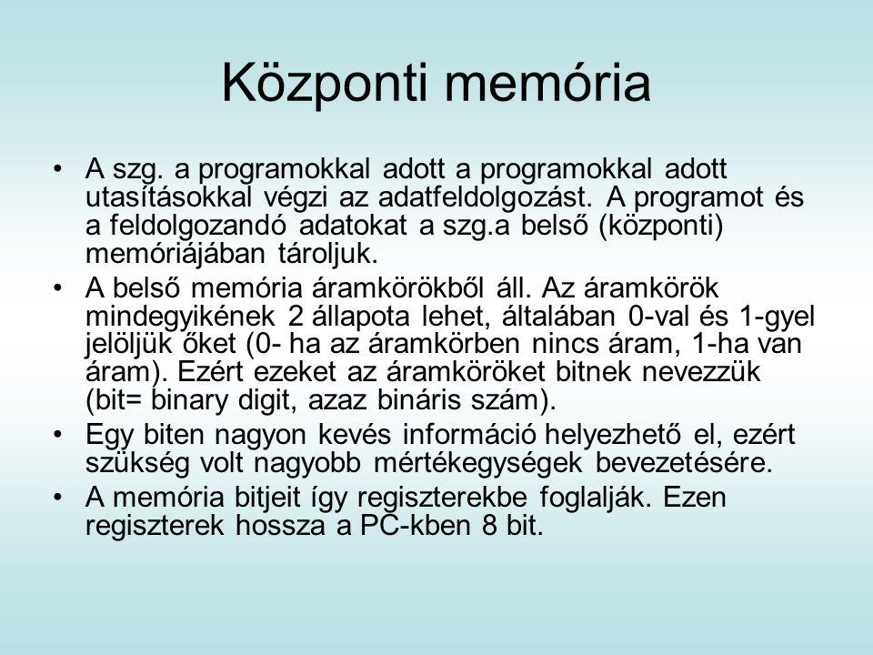 Központi memória