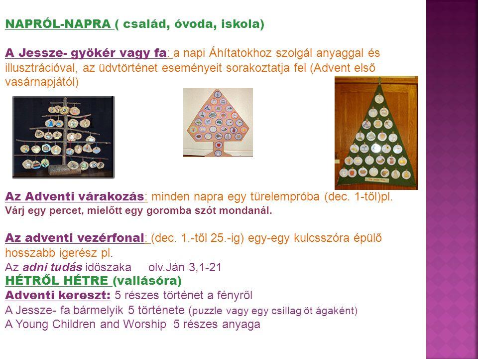 NAPRÓL-NAPRA ( család, óvoda, iskola)