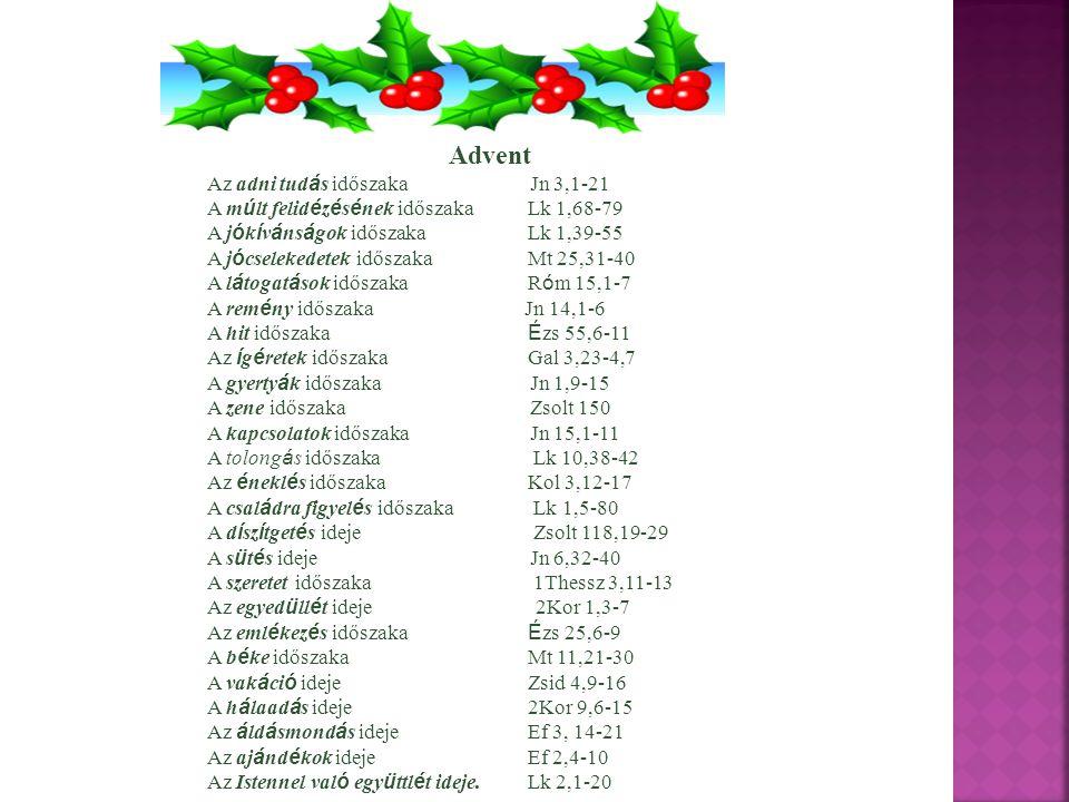 Advent Az adni tudás időszaka Jn 3,1-21