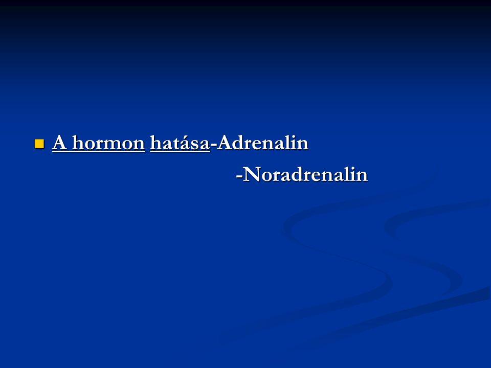 A hormon hatása-Adrenalin