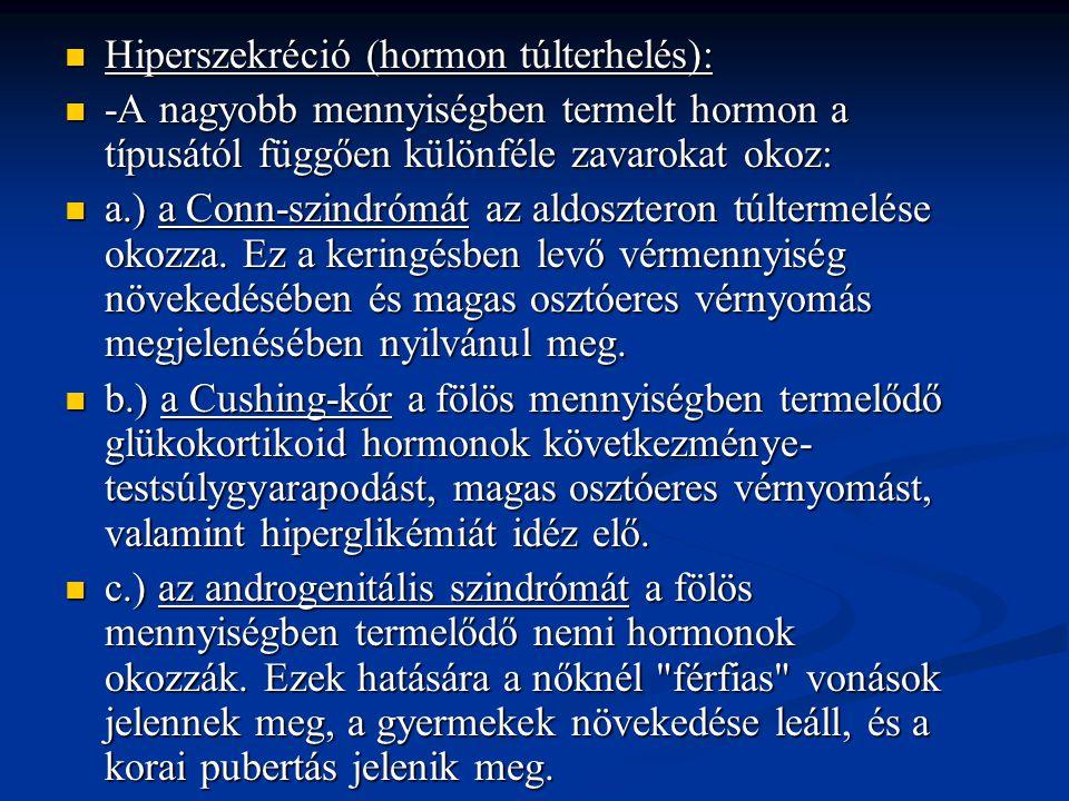 Hiperszekréció (hormon túlterhelés):