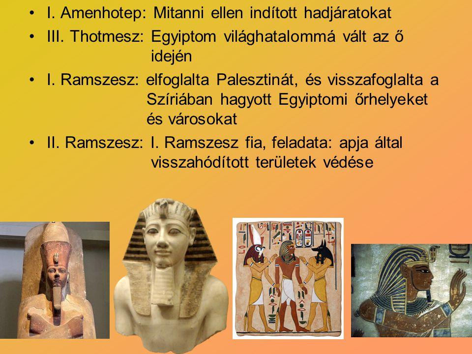 I. Amenhotep: Mitanni ellen indított hadjáratokat