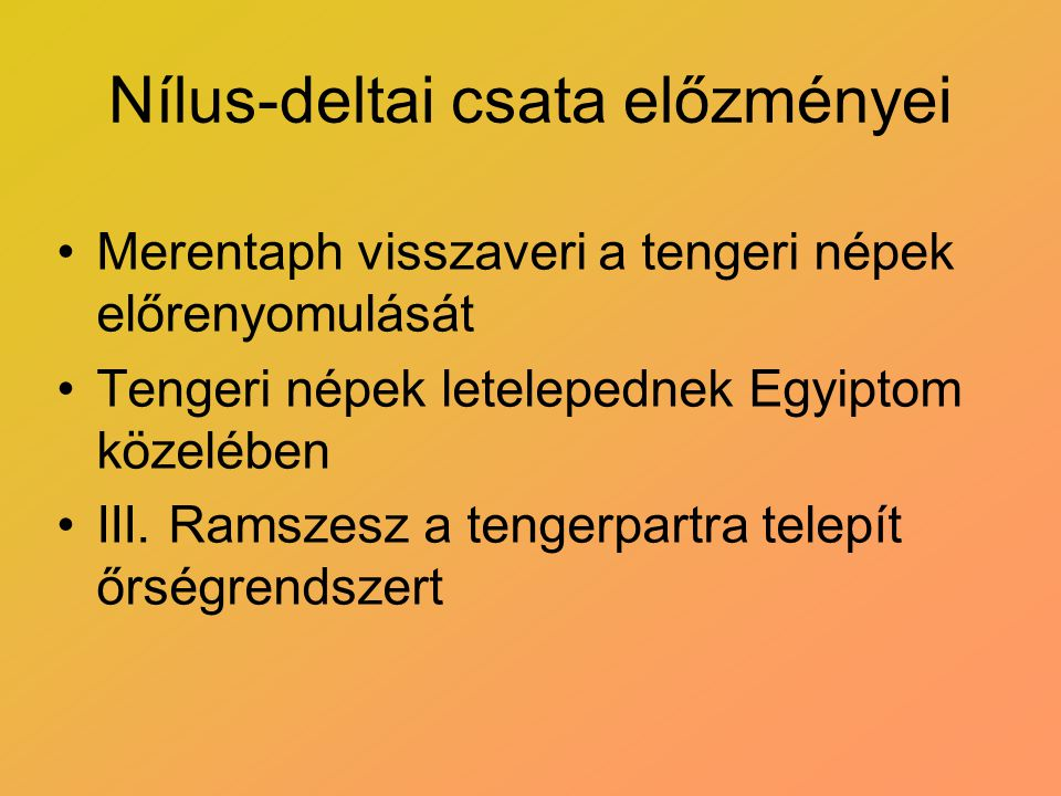 Nílus-deltai csata előzményei