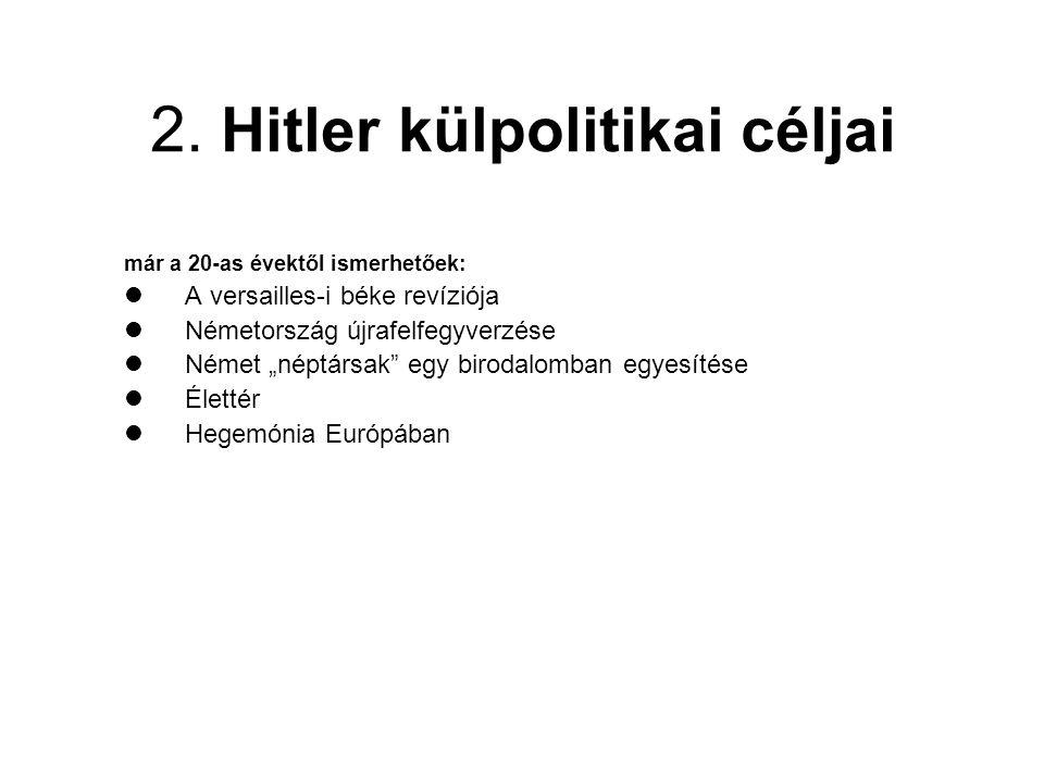2. Hitler külpolitikai céljai