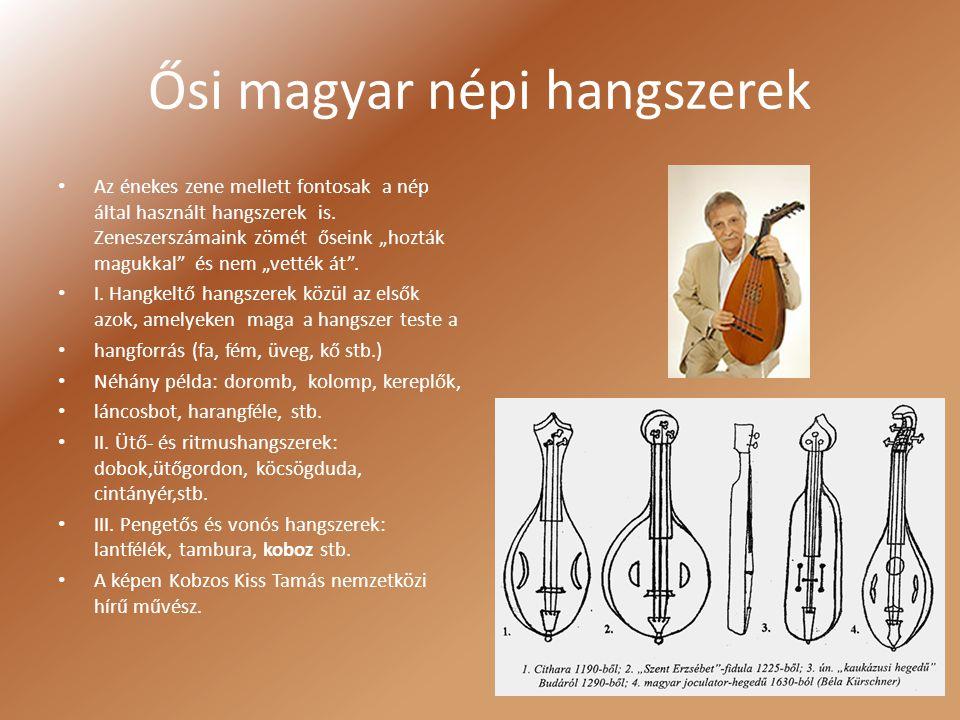 Ősi magyar népi hangszerek