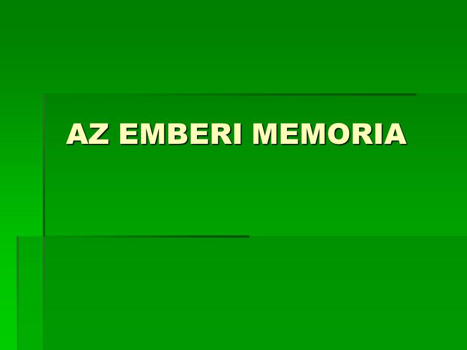 AZ EMBERI MEMORIA