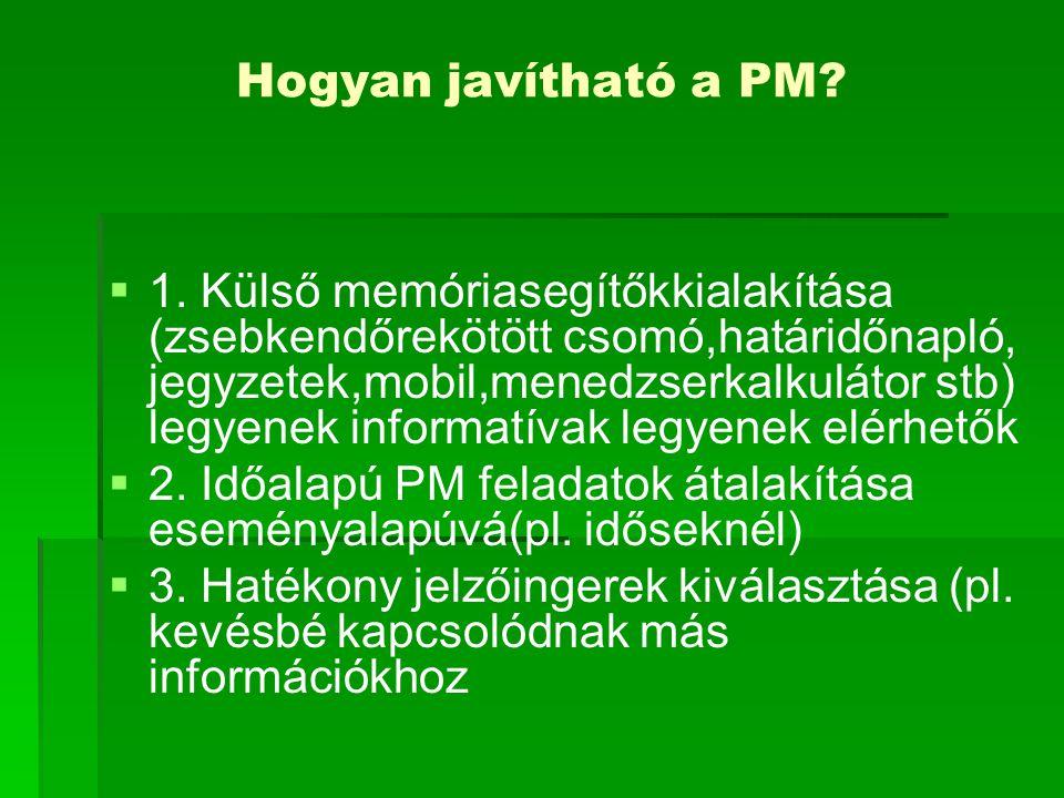 Hogyan javítható a PM
