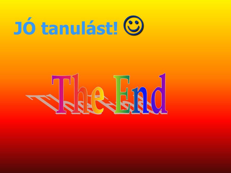 JÓ tanulást!  The End