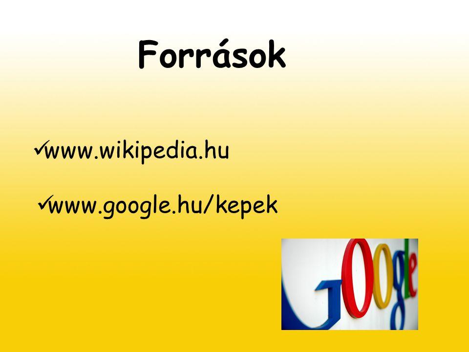 Források www.wikipedia.hu www.google.hu/kepek