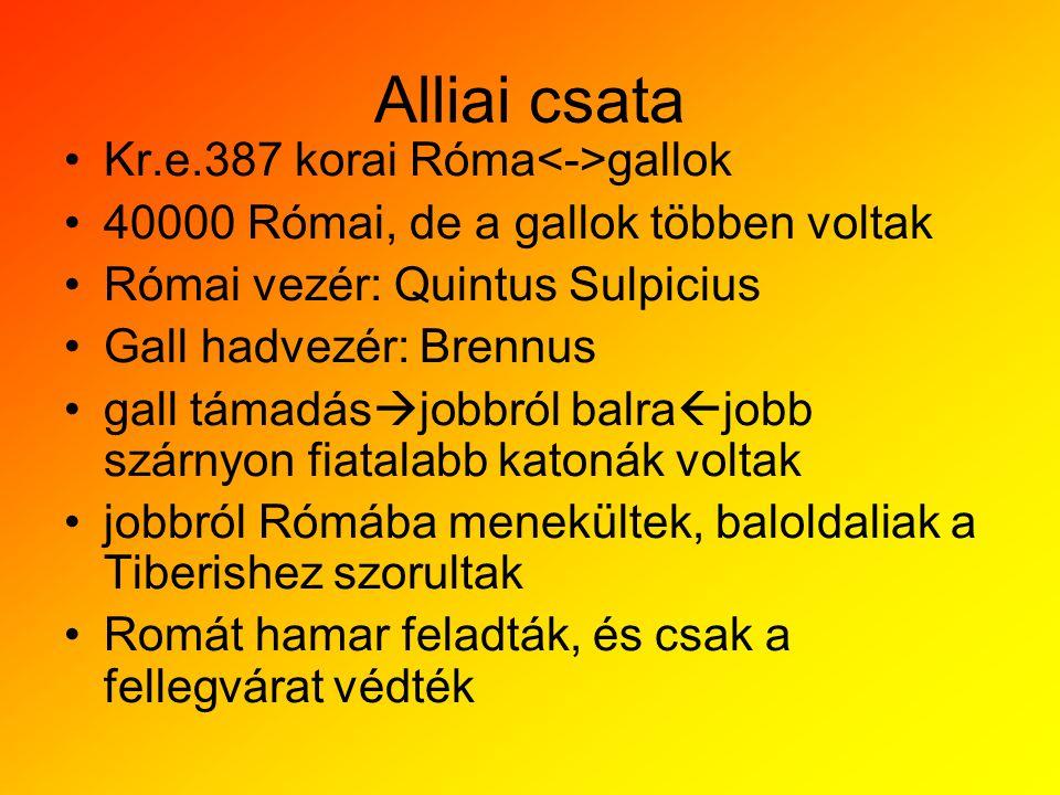 Alliai csata Kr.e.387 korai Róma<->gallok