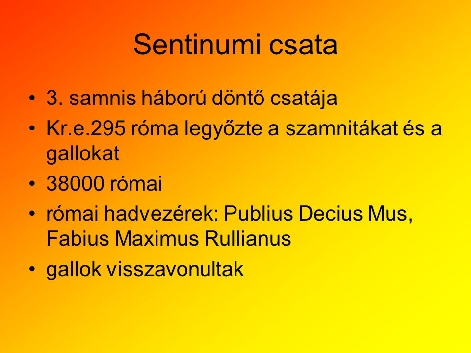 Sentinumi csata 3. samnis háború döntő csatája