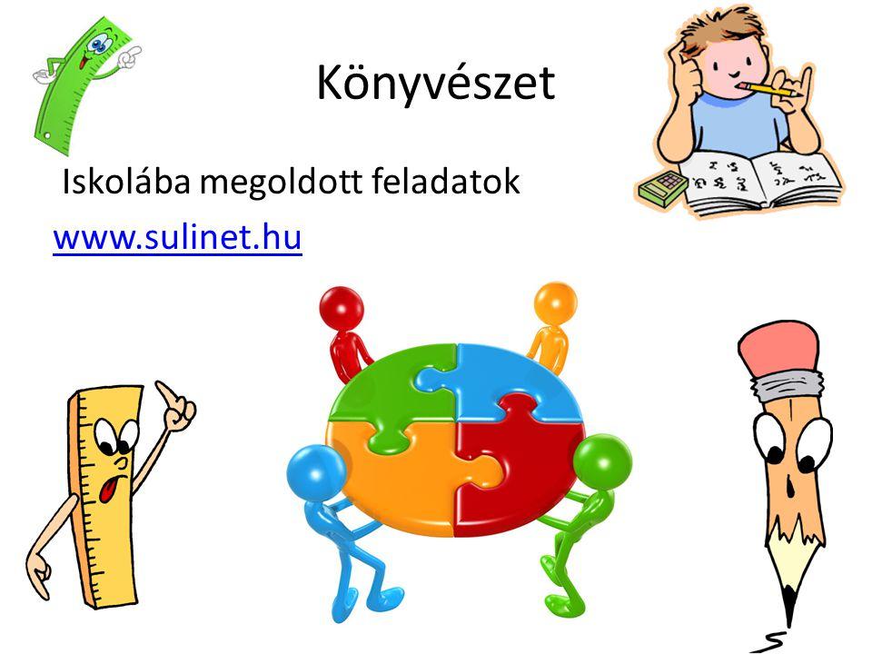 Könyvészet Iskolába megoldott feladatok www.sulinet.hu