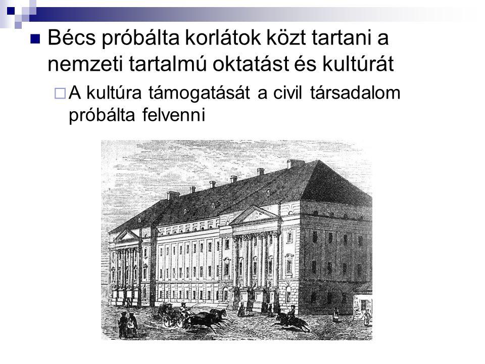 Bécs próbálta korlátok közt tartani a nemzeti tartalmú oktatást és kultúrát