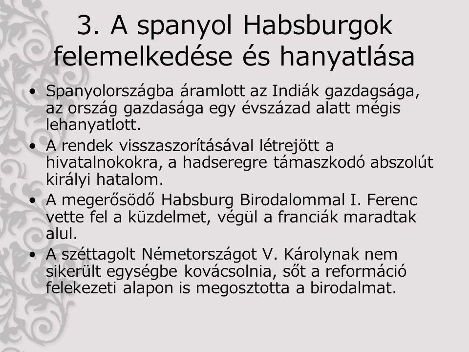 3. A spanyol Habsburgok felemelkedése és hanyatlása