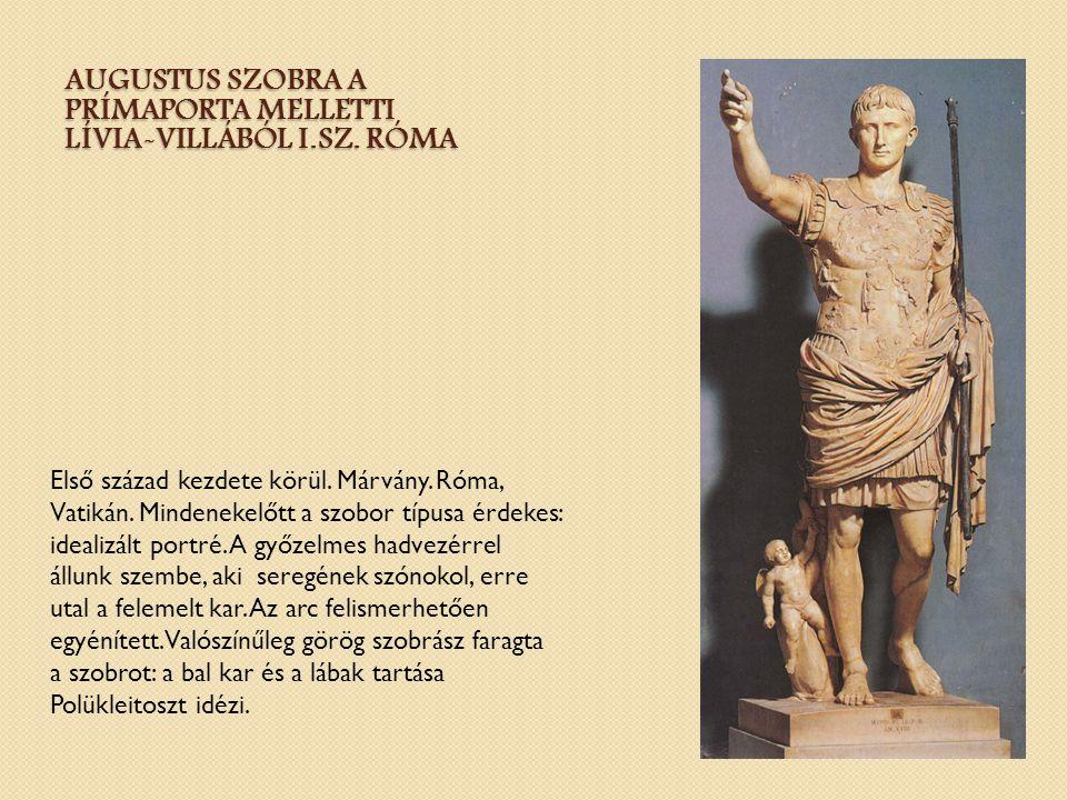 Augustus szobra a Prímaporta melletti Lívia-villából I.sz. Róma