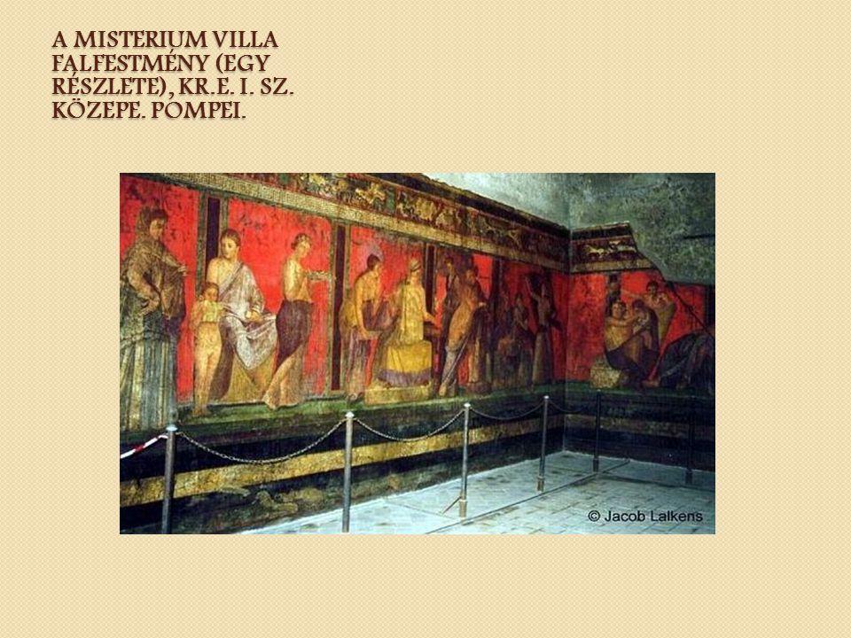 A Misterium villa falfestmény (egy részlete), Kr. e. I. sz. közepe