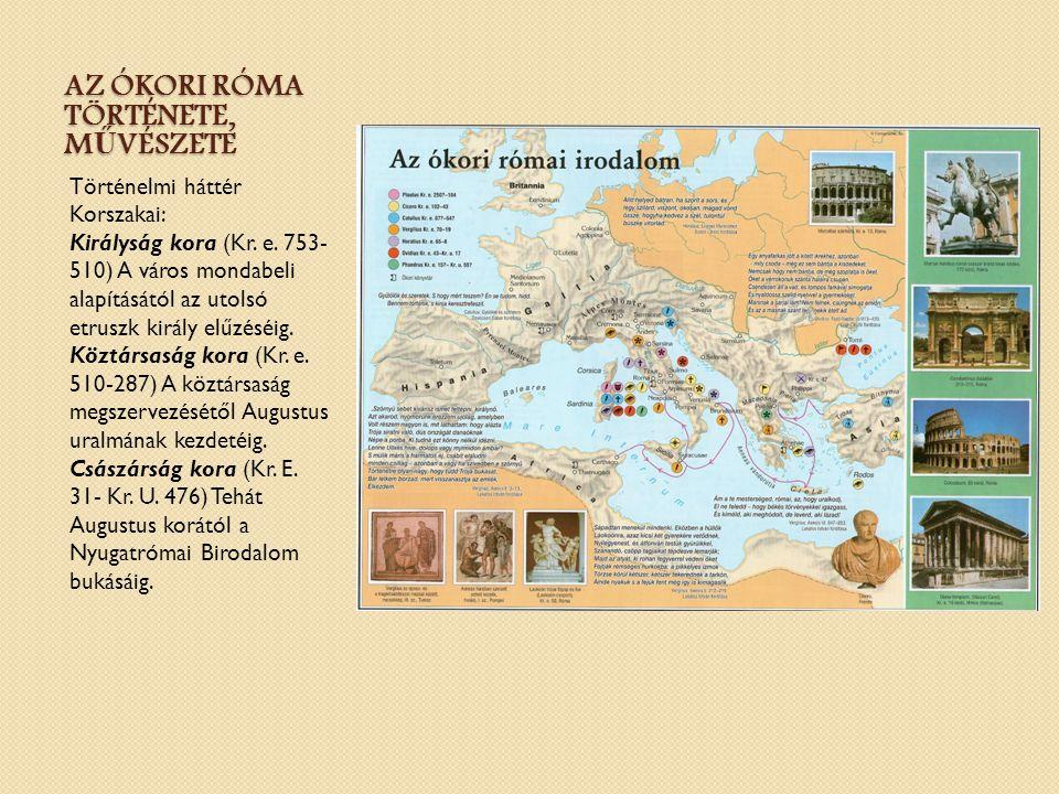 Az ókori Róma története, művészete