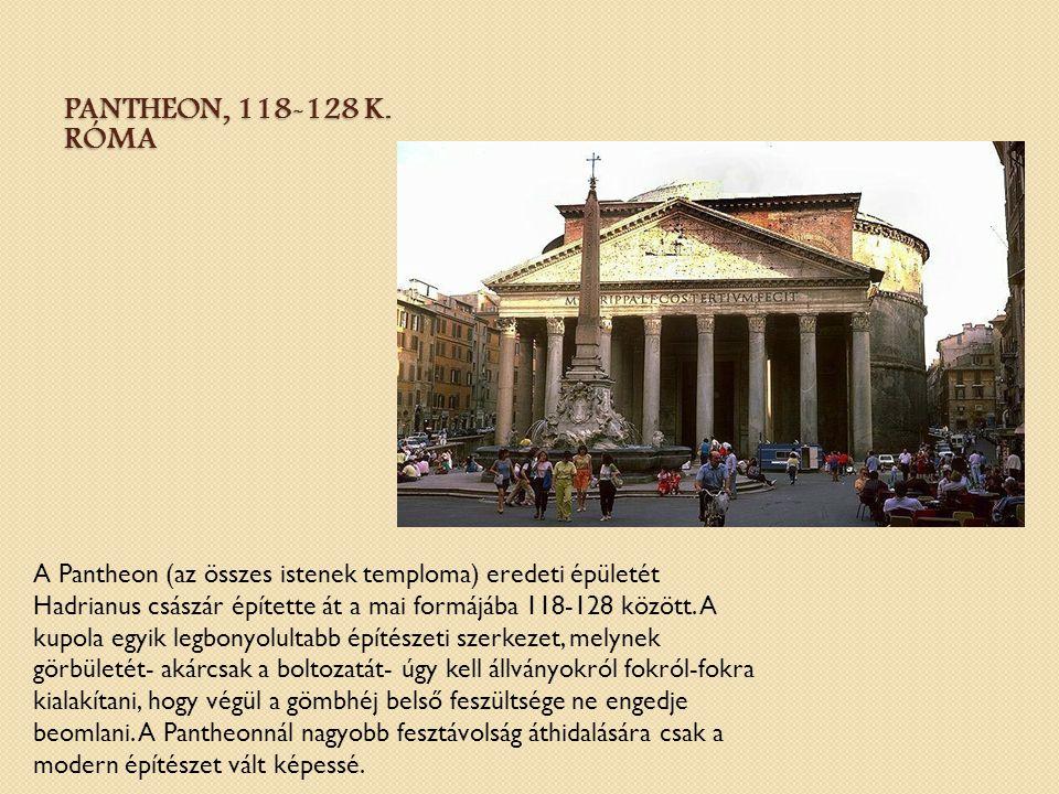 Pantheon, 118-128 k. Róma