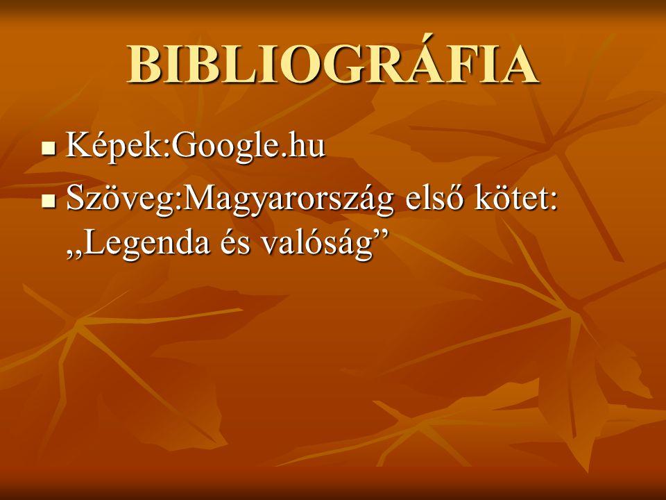 BIBLIOGRÁFIA Képek:Google.hu