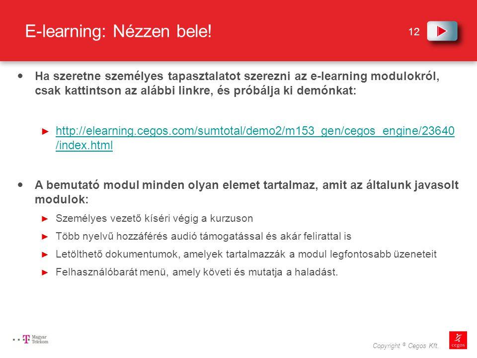 E-learning: Nézzen bele!