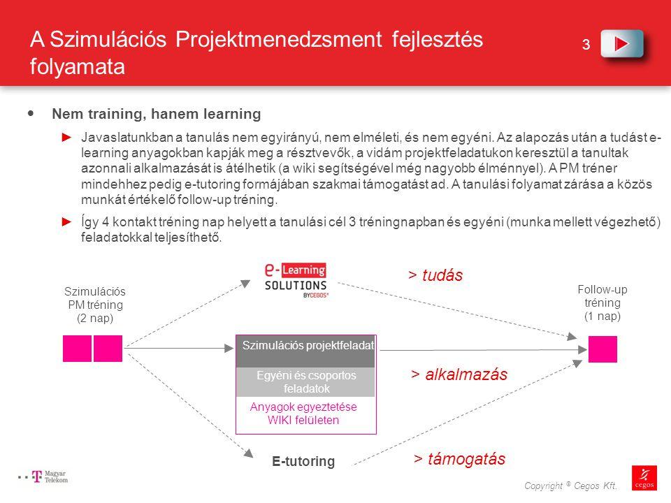A Szimulációs Projektmenedzsment fejlesztés folyamata
