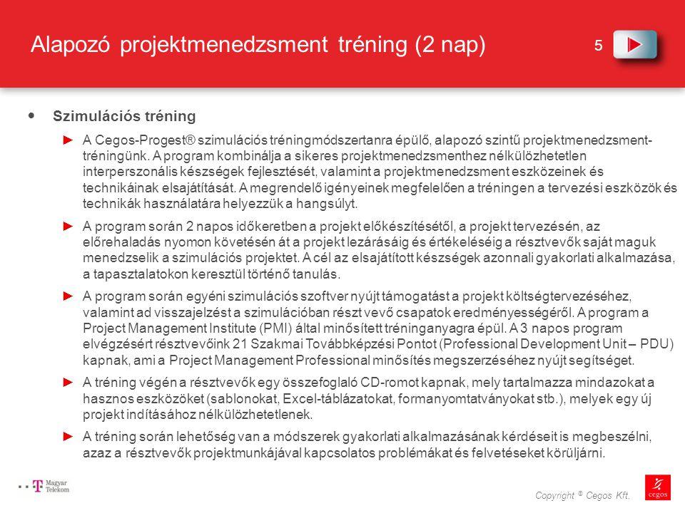 Alapozó projektmenedzsment tréning (2 nap)