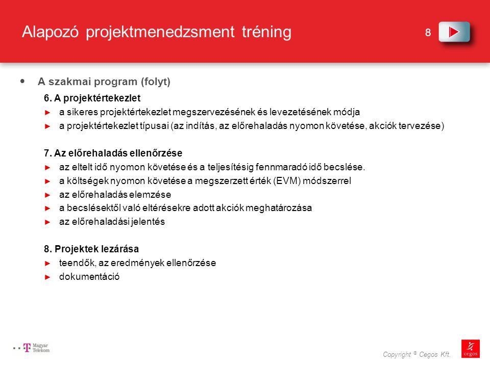 Alapozó projektmenedzsment tréning