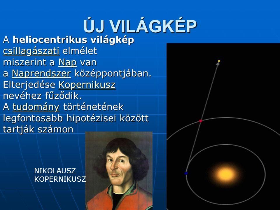 ÚJ VILÁGKÉP A heliocentrikus világkép csillagászati elmélet