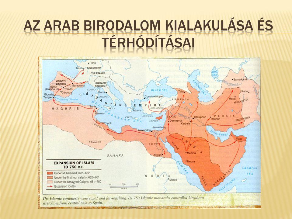 Az arab birodalom kialakulása és térhódításai