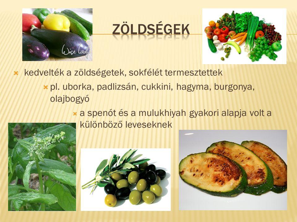 zöldségek kedvelték a zöldségetek, sokfélét termesztettek