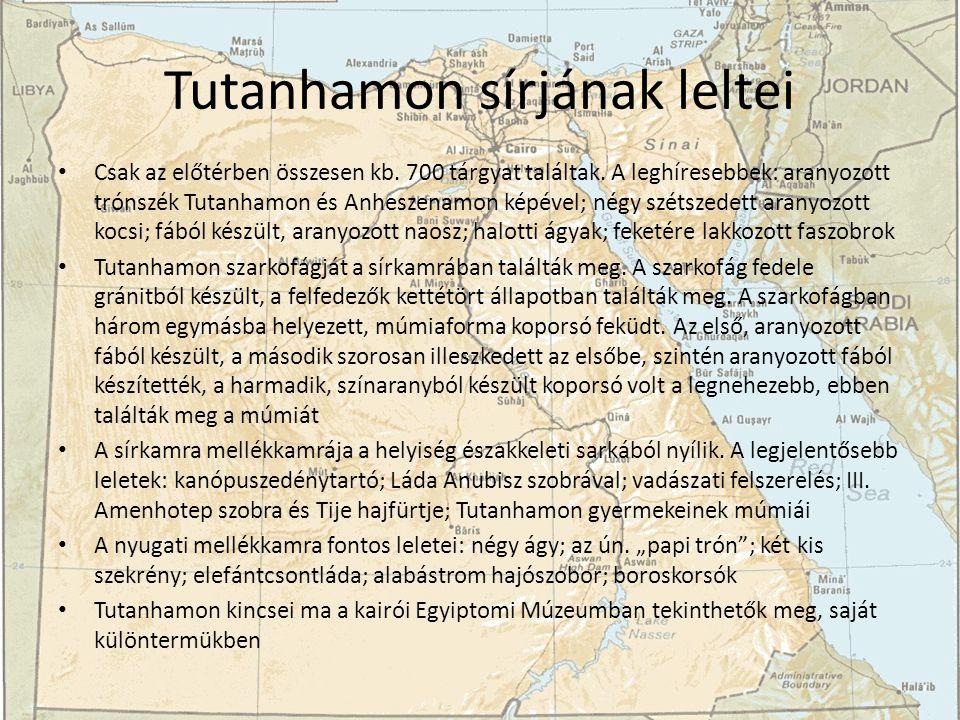 Tutanhamon sírjának leltei