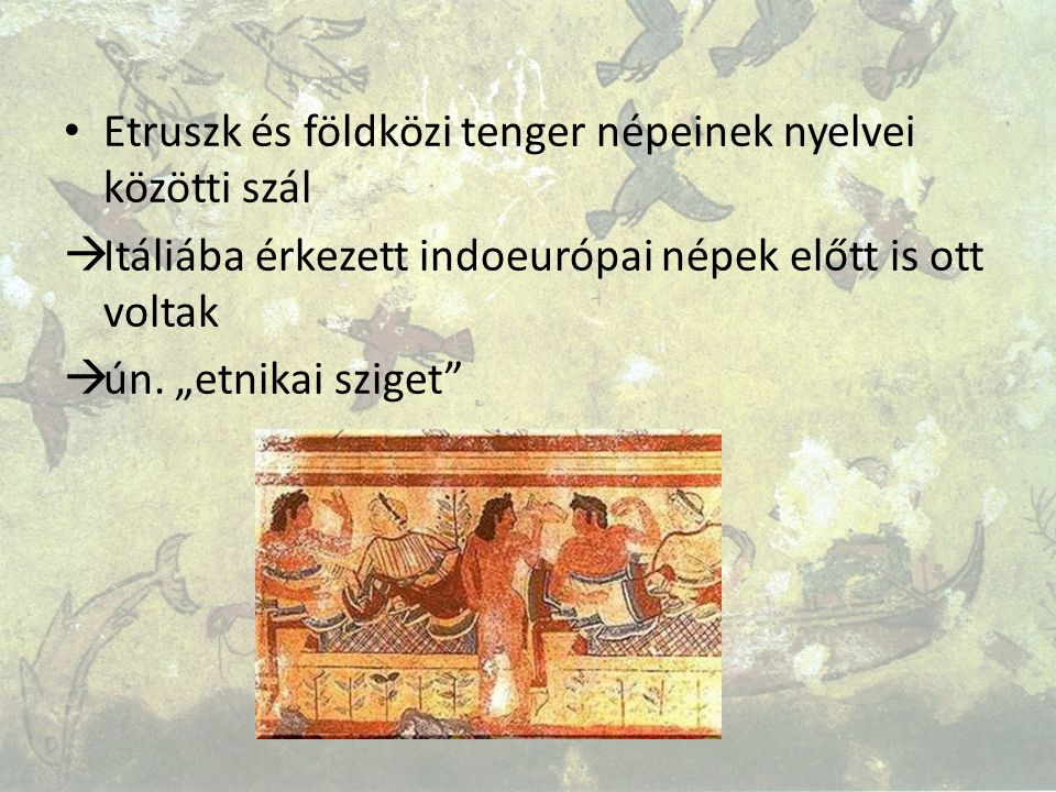 Etruszk és földközi tenger népeinek nyelvei közötti szál