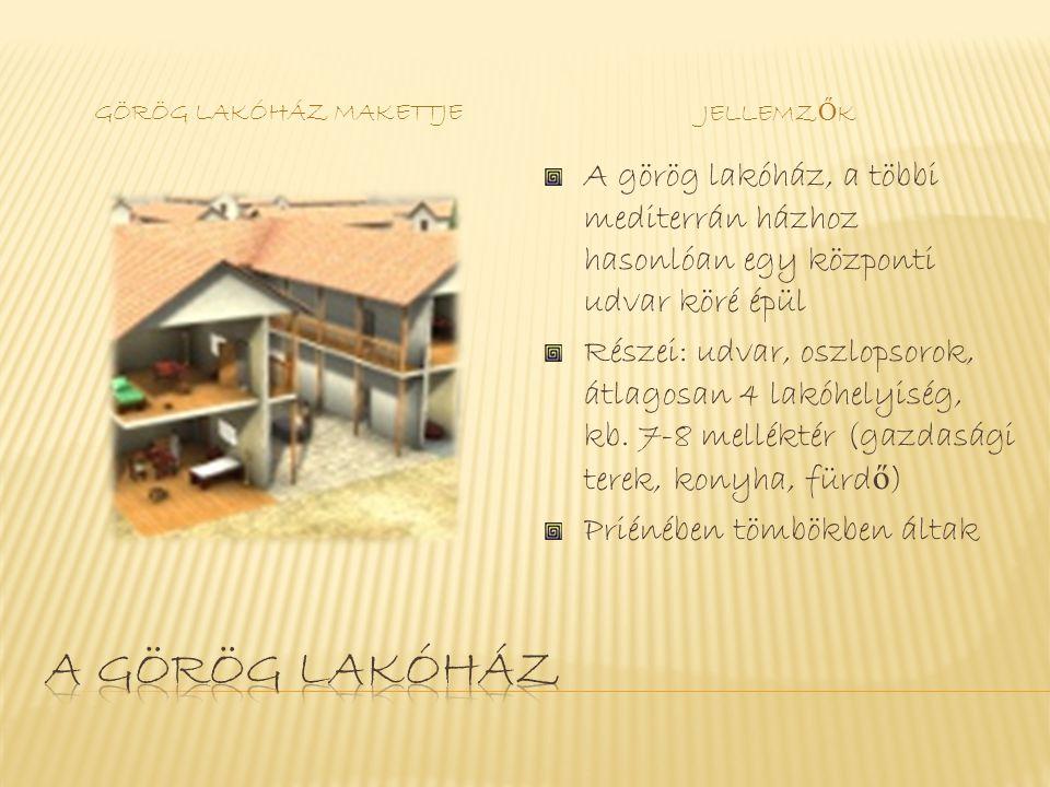 Görög lakóház makettje