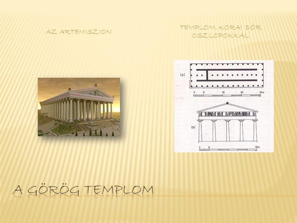 Templom, korai dór oszlopokkal