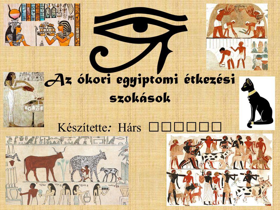 Az ókori egyiptomi étkezési szokások