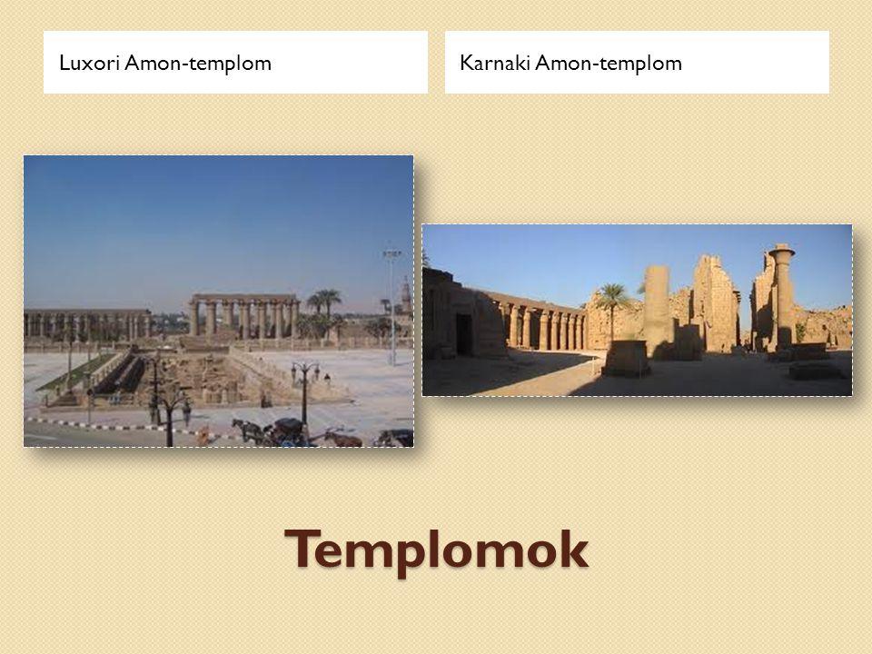 Luxori Amon-templom Karnaki Amon-templom Templomok