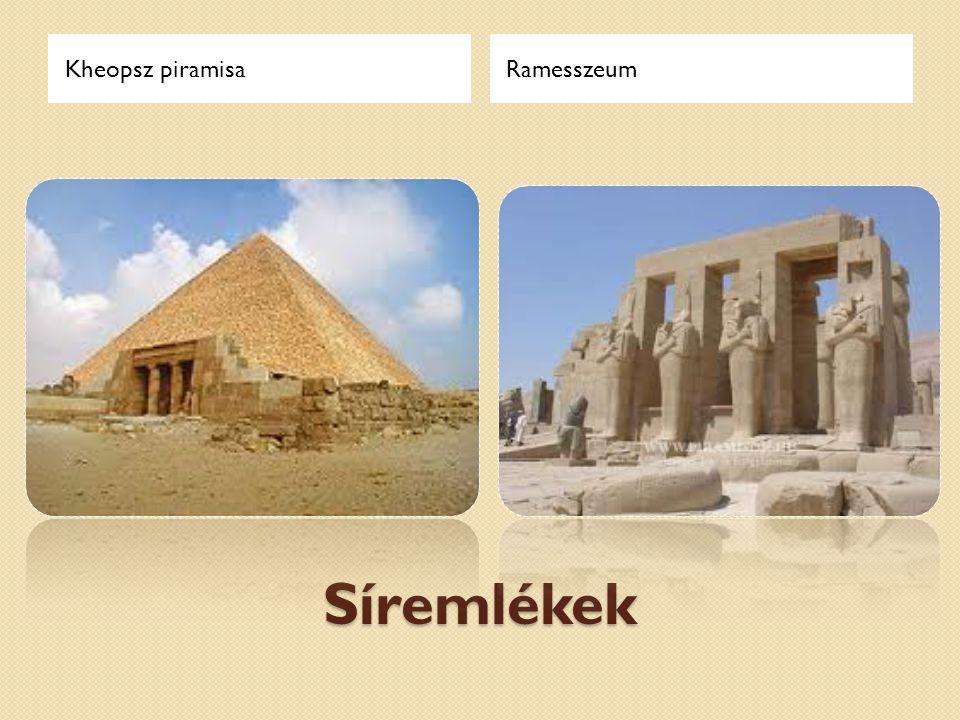 Kheopsz piramisa Ramesszeum Síremlékek