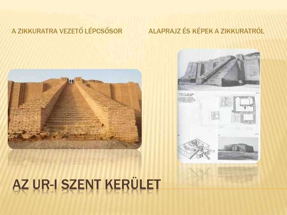 Az Ur-i szent kerület A zikkuratra vezető lépcsősor