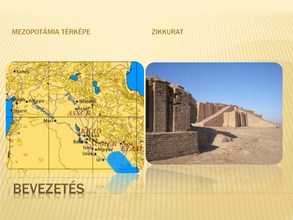 Mezopotámia térképe Zikkurat Bevezetés