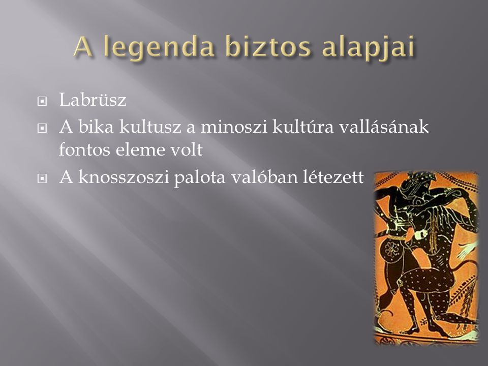 A legenda biztos alapjai