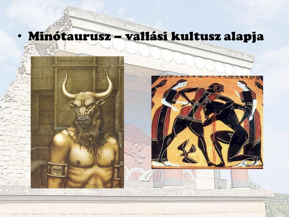 Minótaurusz – vallási kultusz alapja